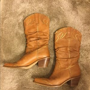 Gianni Bini Shoes - Gianni Bini slouch cowboy boot